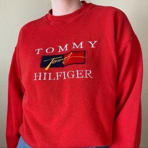 TOMMY HILFIGER Vintage Crewneck Flag Logo L